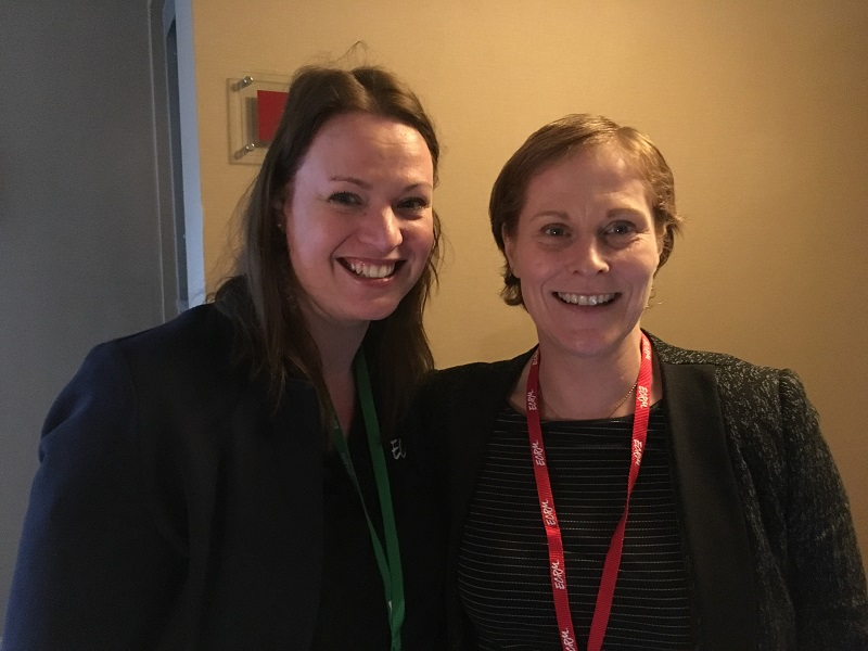 ECRM's Linda Bijsterbosch and Tesco's Claire Costello