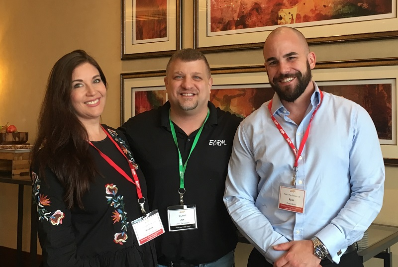 Pick 'n Pay Stores' Michele Deeves and Ryan Quirk with ECRM's Joseph Tarnowski
