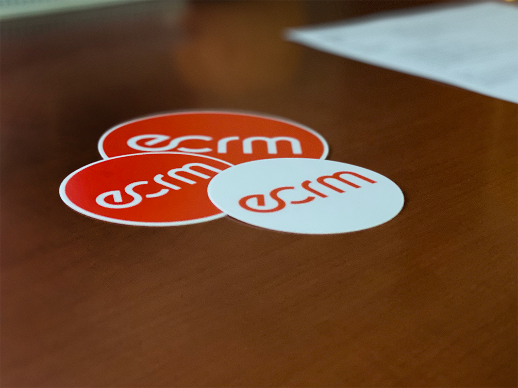 ECRM Branded Stickers